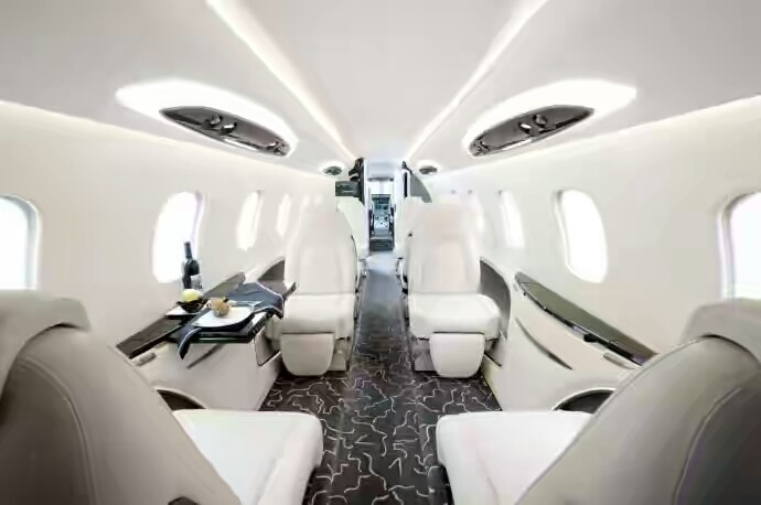 Private Jet Interior White