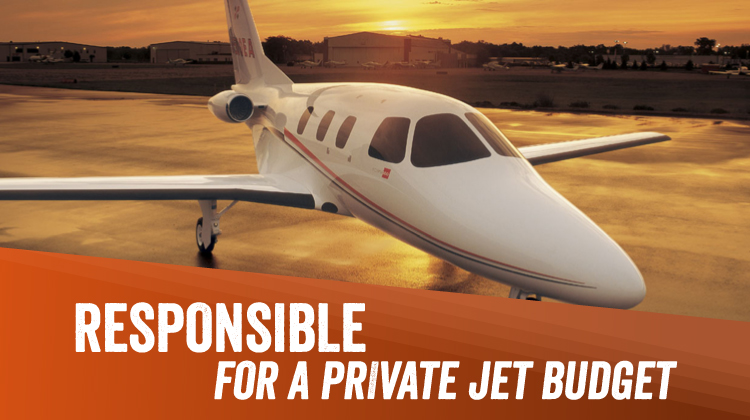 Responsible for a Private Jet Charter Budget? 12 Top-Notch Ways to Spend Your Money