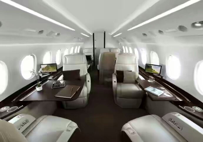 This Falcon 2000S Interior