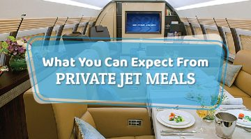 What You Can Expect From Private Jet Meals
