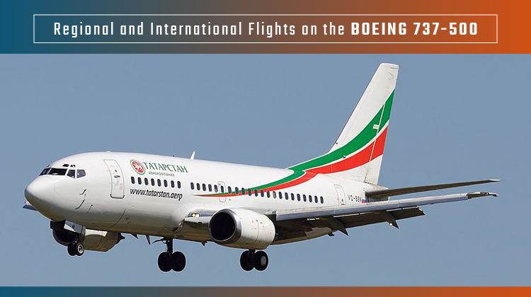 Regional And International Flights On The Boeing 737 500 Jettly Private Jet Charter Blog
