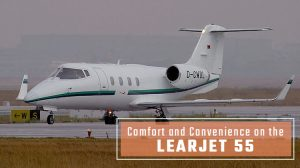 Private Learjet 55