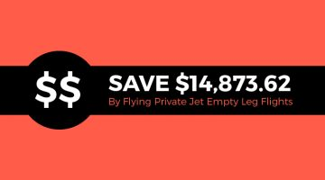 Save $14,873.62 by Flying Private Jet Empty Leg Flights
