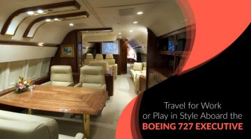 Travel for Work or Play in Style Aboard the Boeing 727 Executive